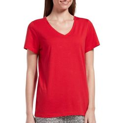 Hue Womens Solid Modal V-Neck Pajama Top