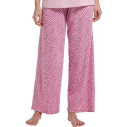 Womens Dot Print Long Pajama Pants