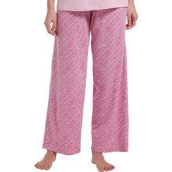 Womens Dot Print Long Pajama Pants