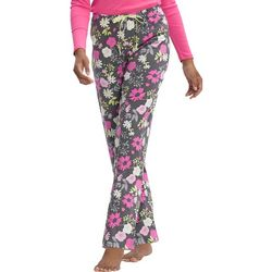 Hue Womens Destiny Floral Print Long Pajama Pants