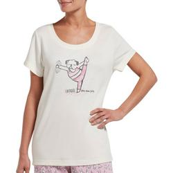 Womens Exercise Then Extra Fries Pajama Top