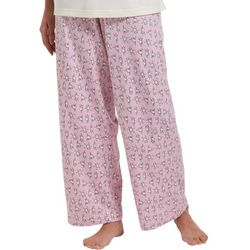 Womens Exercise Dogs Print Long Pajama Pants