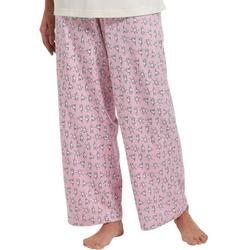 Womens Exercise Dogs Print Long Pajama Pants