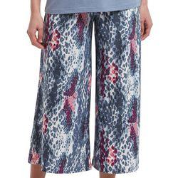 Womens Sassy Snake Culot Pajama Pants