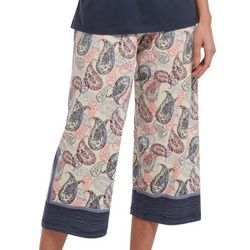 Hue Womens Bubble Paisley Capri Pajama Pants
