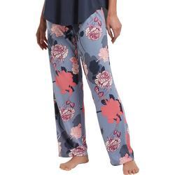 Womens Garden Shadows Print Long Pajama Pants