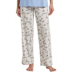 Hue Womens Cocktail Print Pajama Pants