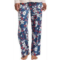 Hue Womens Love Floral Print Pajama Pants