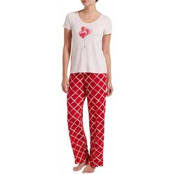 Hue Womens Balloon Hearts Pajama Pants Set