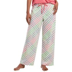 Hue Womens Rainbow Plaid Long Pajama Pants