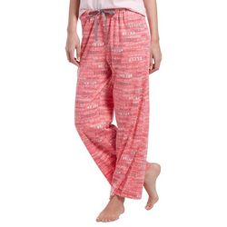 Hue Womens Scrawling Script Long Pajama Pants
