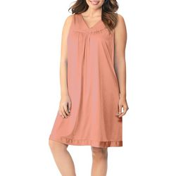 Exquisite Form Womens Sleeveless V-Neck Nightgown