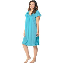 Exquisite Form Flower Embroidered Nightgown