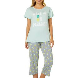 Capelli Womens Wake Up In Paradise Pajama Pants Set