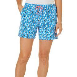 Coral Bay Womens Seagulls Pajama Shorts
