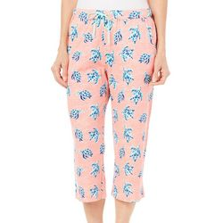 Coral Bay Womens Turtle Pajama Capri Pants