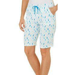 Coral Bay Womens Seahorse Pajama Bermuda Shorts