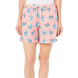 Coral Bay Womens Turtle Pajama Shorts