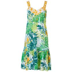 Coral Bay Womens Tropical Sleeveless Nightgown