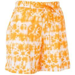 Womens Tie-Dye Pajama Shorts