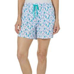 Womens Sailboat Pajama Shorts