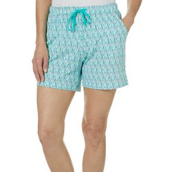 Coral Bay Womens Mermaid Pajama Shorts