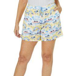 Coral Bay Womens Beach Scene Pajama Shorts