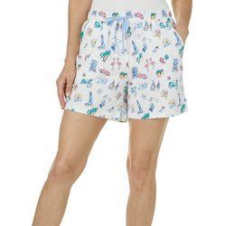Coral Bay Womens Florida Style Pajama Shorts