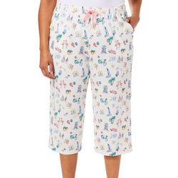 Coral Bay Womens Florida Style Pajama Capris