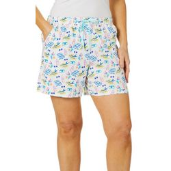 Coral Bay Womens Sunshine Print Pajama Shorts