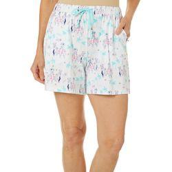 Womens Dog Cruise Print Pajama Shorts