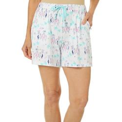 Womens Dog Cruise Print Pajama Shorts