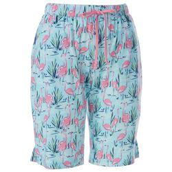 Womens Flamingo Pond Pajama Shorts