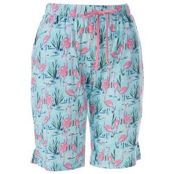 Womens Flamingo Pond Pajama Shorts