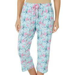 Womens Flamingo Pond Pajama Capris