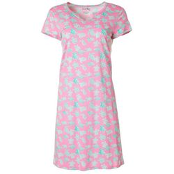 Coral Bay Womens Turtle Print Nightgown