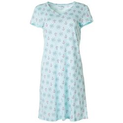 Coral Bay Womens Sailor Stripe Print Nightgown
