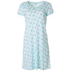 Womens Sailor Stripe Print Nightgown