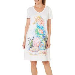Amber Moran Womens Seahorse Beach Nightgown