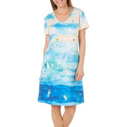 Amber Moran Womens Florida Sandbar Nightgown