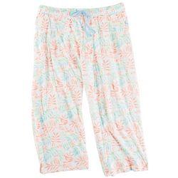 Coral Bay Womens Leaves Pajama Pants