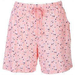 Coral Bay Womens Flamingo Pajama Shorts