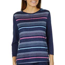 Nautica Womens Striped Pajama Top