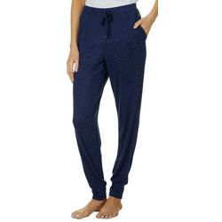 Nautica Womens Heathered Jogger Pajama Pants