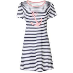 Nautica Womens Striped Anchor T-Shirt Nightgown