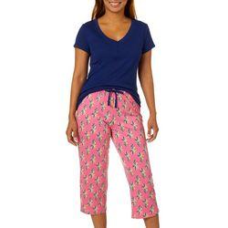 Nautica Womens 2-pc. Pineapple Print Pajama Capris Set