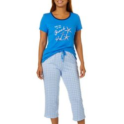 Nautica Womens 2-pc. To The Beach Pajama Capris