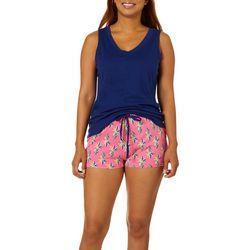 Nautica Womens 2-pc. Pineapple Print Pajama Shorts Set