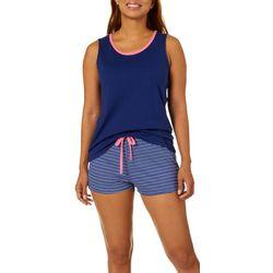 Nautica Womens 2-pc. Striped Pajama Shorts Set