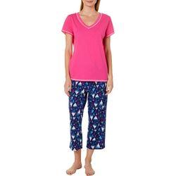 Nautica Womens 2-pc. Sail Boat Print Pajama Capris Set
